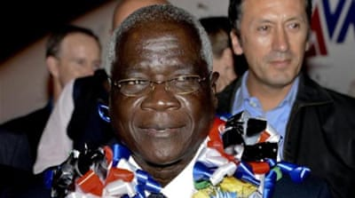 Afonso Dhlakama, who came out of hiding on September 4, returned to Maputo for the peace accord [EPA]