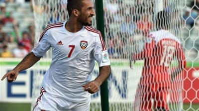 Ali Ahmed Mabkhout opened the scoring for UAE after just 14 seconds [AFP]