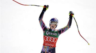 Vonn is a four-time World Cup overall winner [EPA]