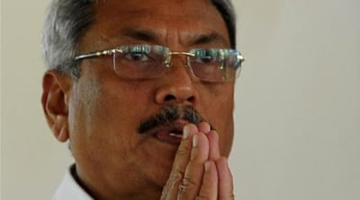 Gotabhaya Rajapaksa was defence minister in his brother's government which lost the January 8 polls [AFP]
