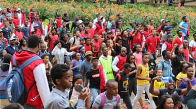 South African students occupy parliament, call for #NationalShutDown of universities