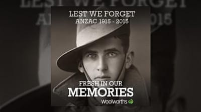 Satire and politics flood Australian supermarket's war memorial campaign