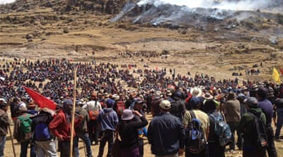 Martial law targets Peruvians protesting Chinese mine