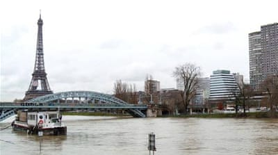 Paris flood alert as River Seine bursts its banks