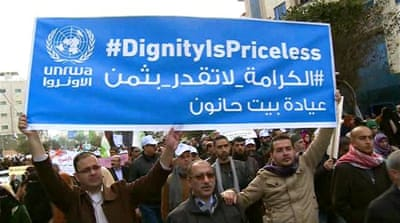 Thousands protest against planned UNRWA aid cuts