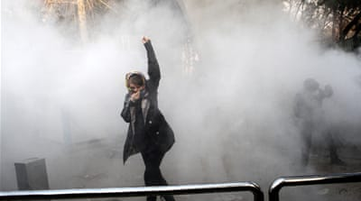What caused protests to flare up in Iran?