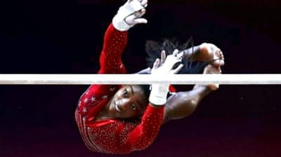 Simone Biles leads US gymnastics team to team gold in Qatar