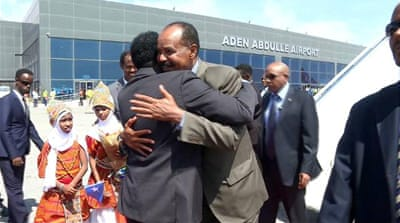 Eritrean leader seeks closer ties in visit to Somalia