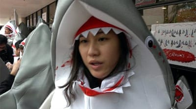 Hong Kong: Activists want 'shark fin' off menu