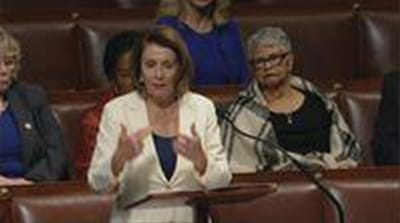 Pelosi tells US Congress immigrant stories for eight hours