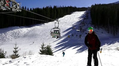 Bulgarians protest turning forest into ski resort