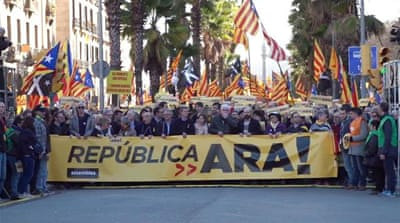 Catalonia 'Republic Now' march draws thousands
