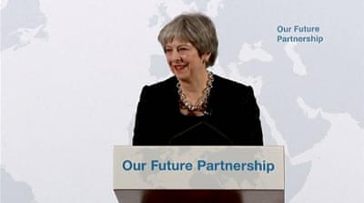 Theresa May sets out vision on trade with EU post-Brexit