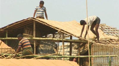 Rohingya refugees at risk of deadly monsoon rains