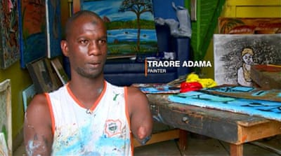 First person: Ivorian artist fights stigma around disability