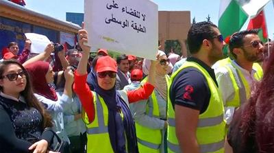 Jordan unions launch nationwide strike over income tax plan