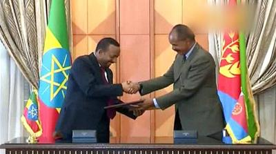 Ethiopia-Eritrea peace: Leaders sign end to 'state of war'