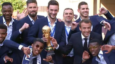 World Cup winners: Heroes' welcome for France players