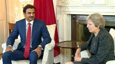 Qatar's emir in London for talks with British prime minister