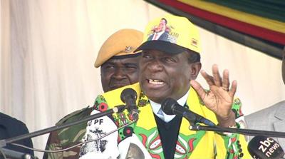 Zimbabwe election: Mnangagwa back on campaign trail