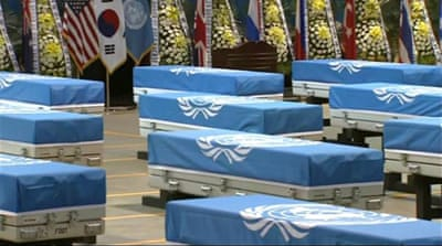 Bodies of US soldiers killed during Korean War returning home