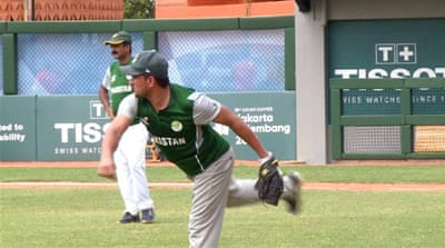 Pakistan's baseball team use their cricket skills at Asian Games