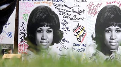 Aretha Franklin fans pay tributes to the late 'Queen of Soul'