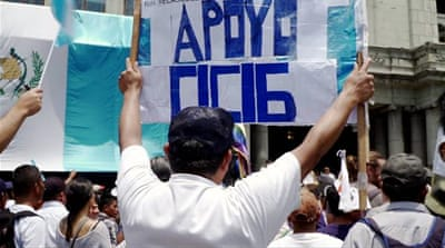 Guatemalans protest against Morales' annulment of CICIG