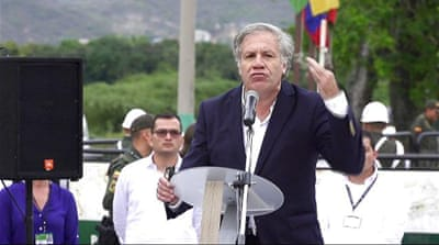 OAS chief says 'military action not ruled out' in Venezuela