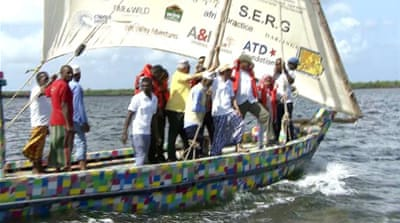 Kenyans hope recycled plastic boat will inspire progress