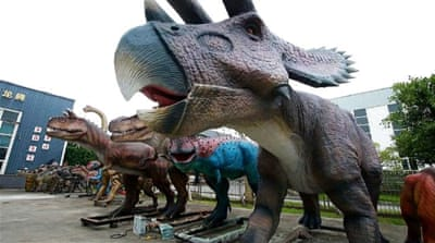 China's dinosaur replica makers worry about trade war with US