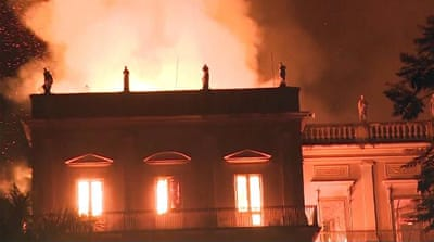 Brazil: '200 years of work' lost in national museum blaze