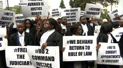 Zimbabwe lawyers demand independent judiciary to try protesters