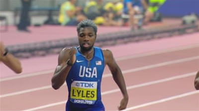 US athletes dominate sprinting in 2019 IAAF