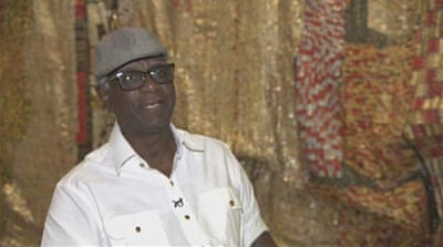 Art from rubbish: Noted artist Anatsui holds exhibition in Doha