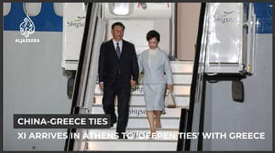 China's Xi arrives in Athens to 'deepen cooperation' with Greece