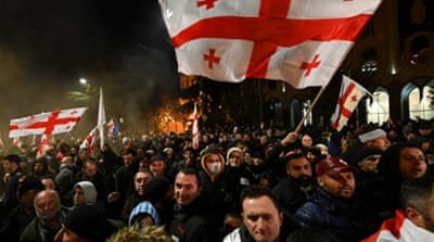 Georgia protesters angered by promises broken on electoral reform