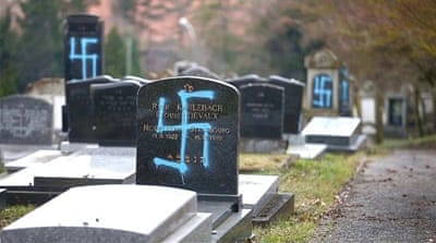 Jewish cemetary desecrated in France