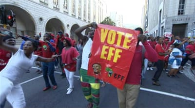 South Africa's opposition EFF rises in polls