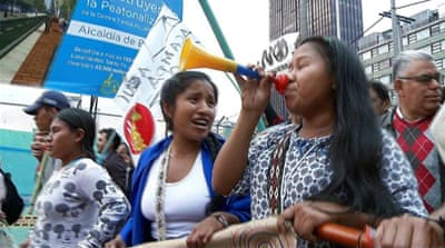 Colombia war crimes: Mass protests in support of special tribunal