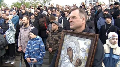 Russia's cathedral construction put on hold after protests