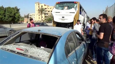 Tourists wounded in bus blast near Egypt's Giza Pyramids