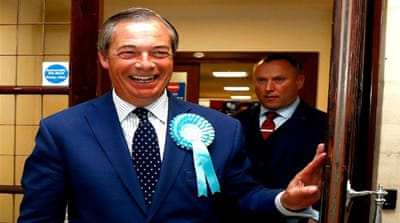 Farage's Brexit party set to win UK seats in European elections