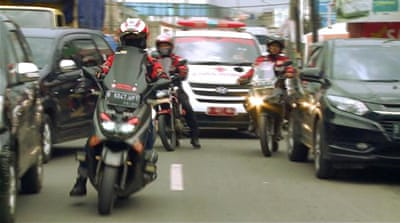 First Responders: Indonesia's bikers who escort ambulances