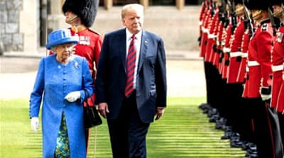 Trump's UK visit: Pomp and protests await US president