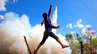Rocket to the gods: Buddhist blast off for good luck