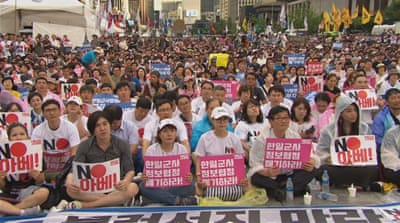 South Koreans mark anniversary of end of Japan's colonial rule