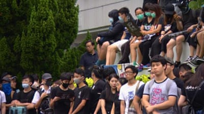 Hong Kong workers, students launch strike