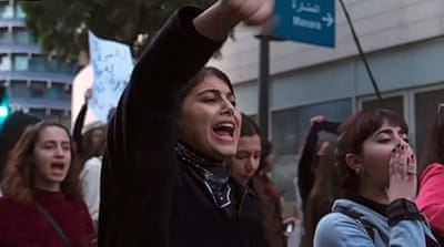 Women call for rights, lead change in Lebanon protests