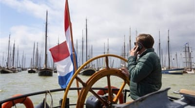 Trying to stay afloat: Dutch heritage vessels sail in protest